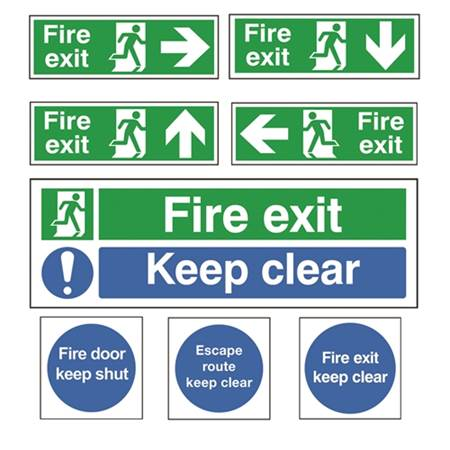 Picture for category Fire Exit and Emergency Signs