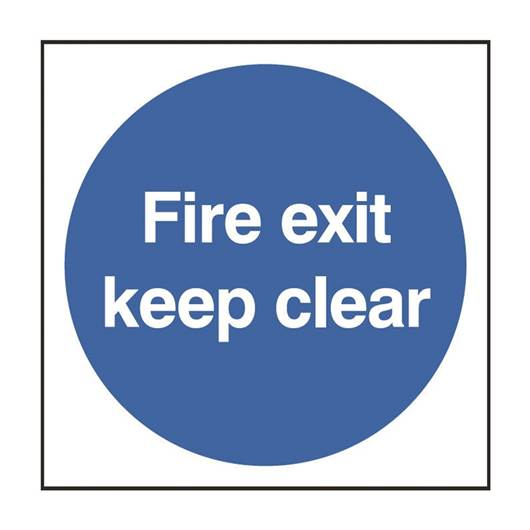 Picture of Fire Exit Keep Clear Circular Sign