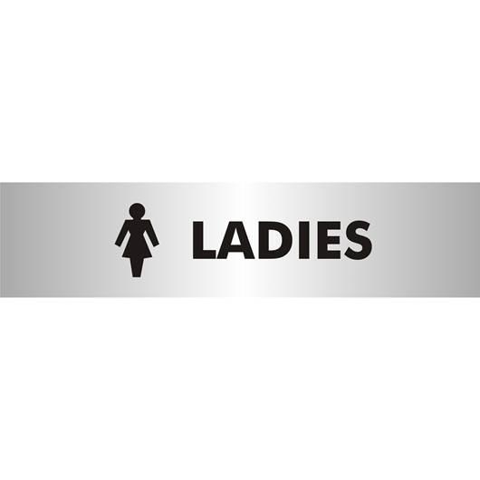 Picture of Ladies Brushed Aluminium Office Sign