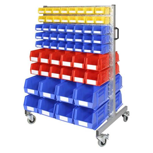 Picture of Bin Trolleys with Louvred Panels