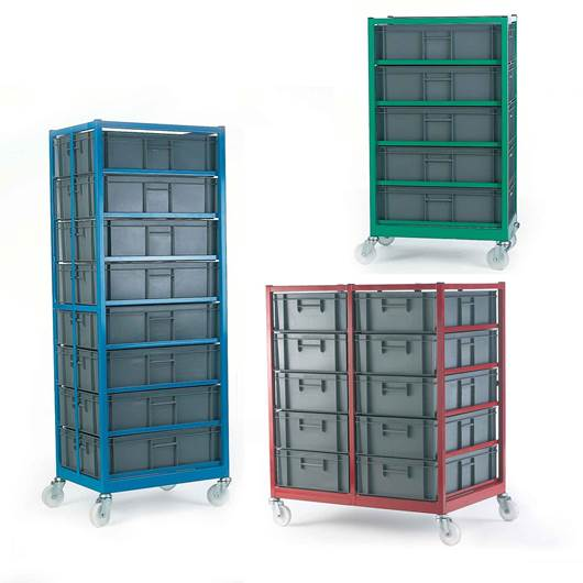 Picture of Mobile Racks with Containers