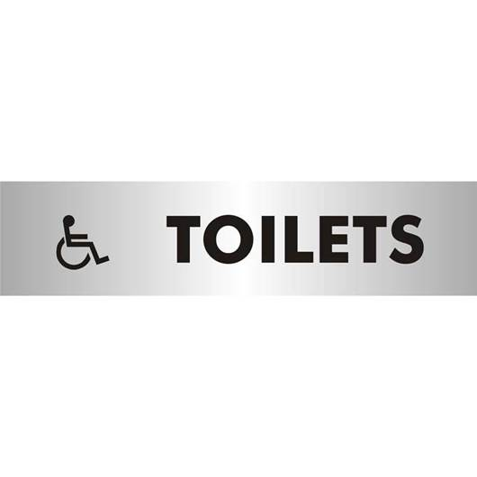 Picture of Disabled Toilets Brushed Aluminium Office Sign