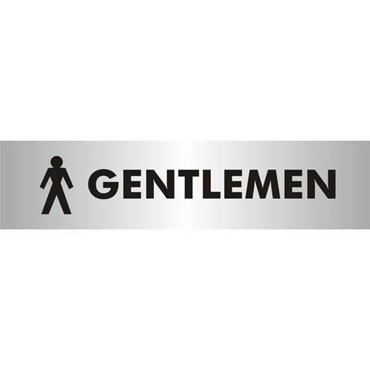 Picture of Gentlemen Brushed Aluminium Office Sign