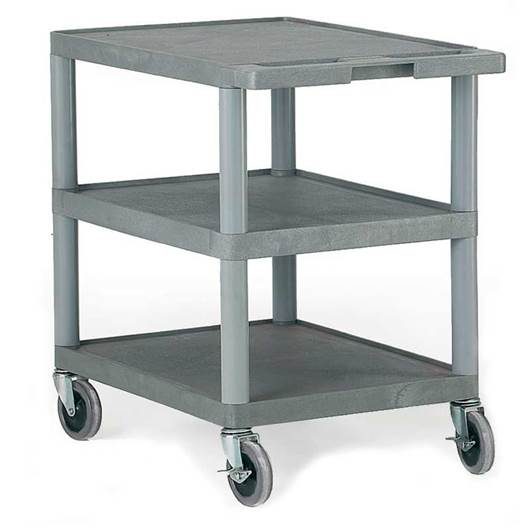 Picture of Standard Grey 3 Shelf Trolley