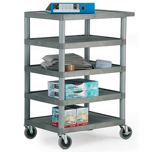 Picture of Standard Grey 5 Shelf Trolley
