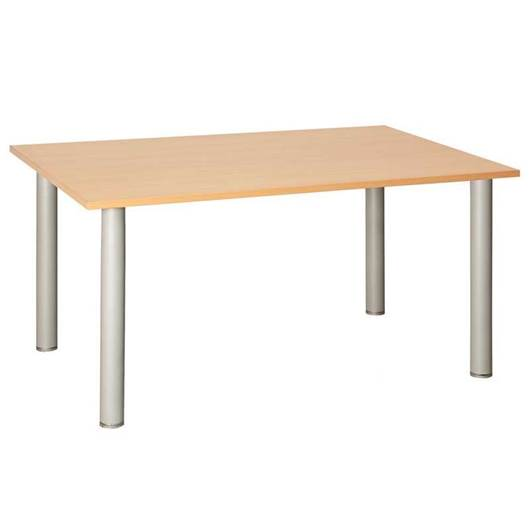 Picture of Fraction Rectangular Meeting Table with Silver Metal Legs