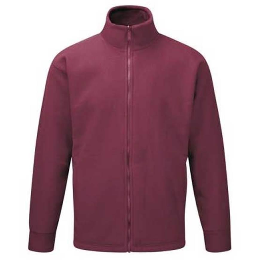 Picture of Mens Burgundy Fleece Jacket