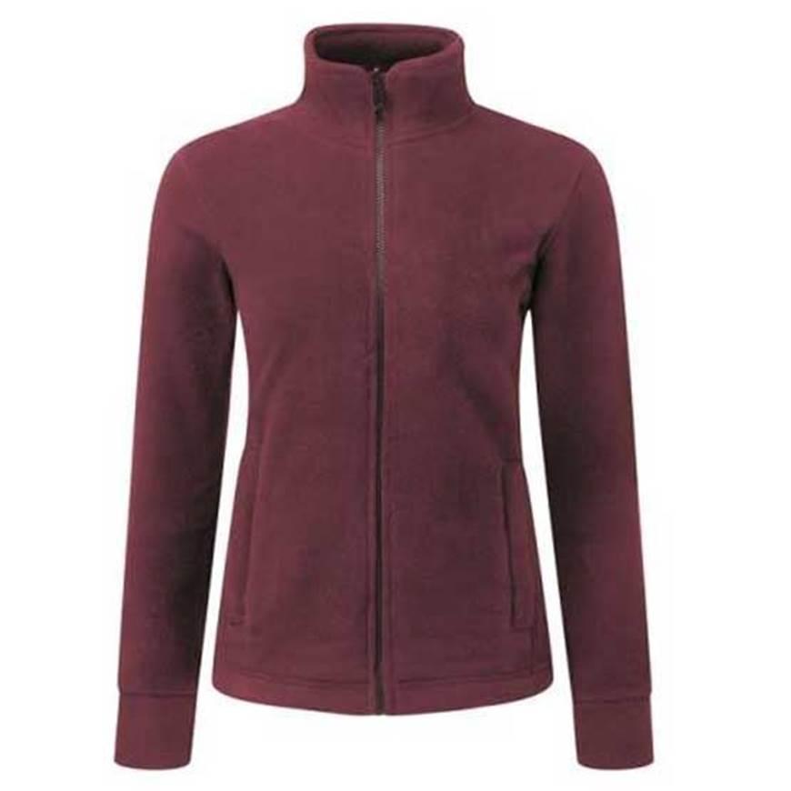 Picture of Womens Burgundy Fleece Jacket