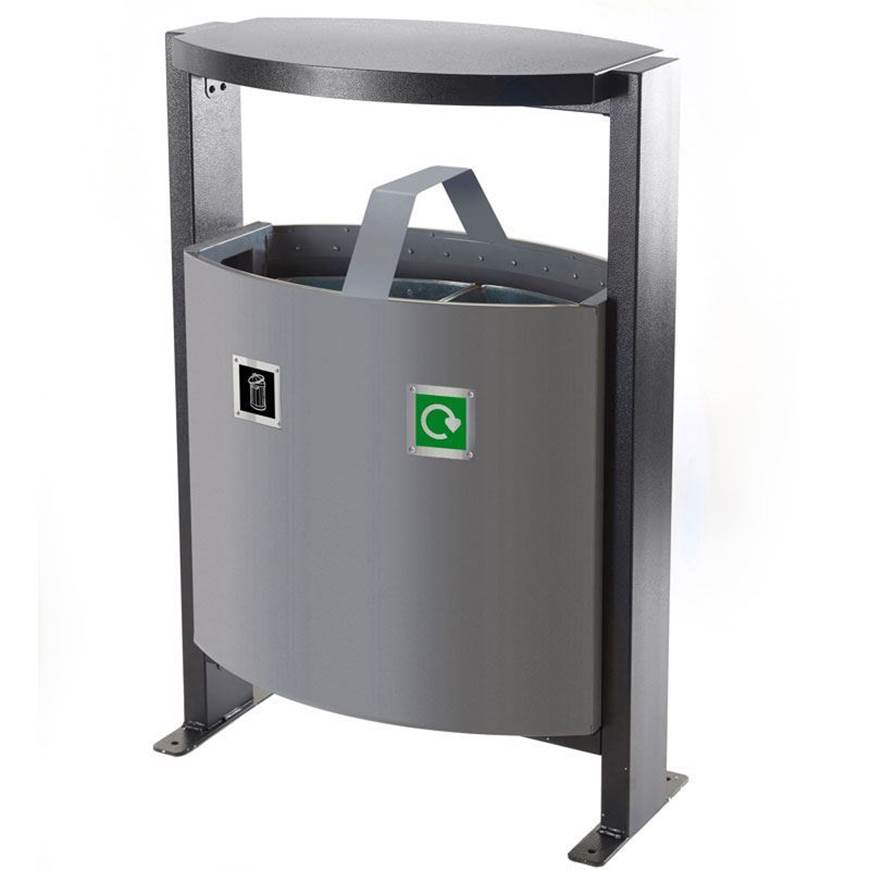 Picture of Outdoor 2 Compartment Bin