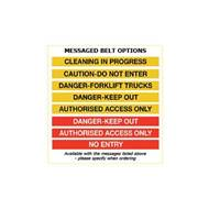 Picture of Premium Safety Belt Barriers - Messaged Belt